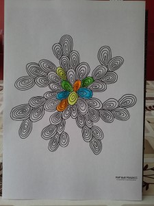 abstract swirls portait
