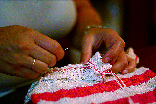 hands-sewing