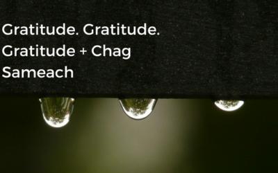 Gratitude. Gratitude. Gratitude + Chag Sameach