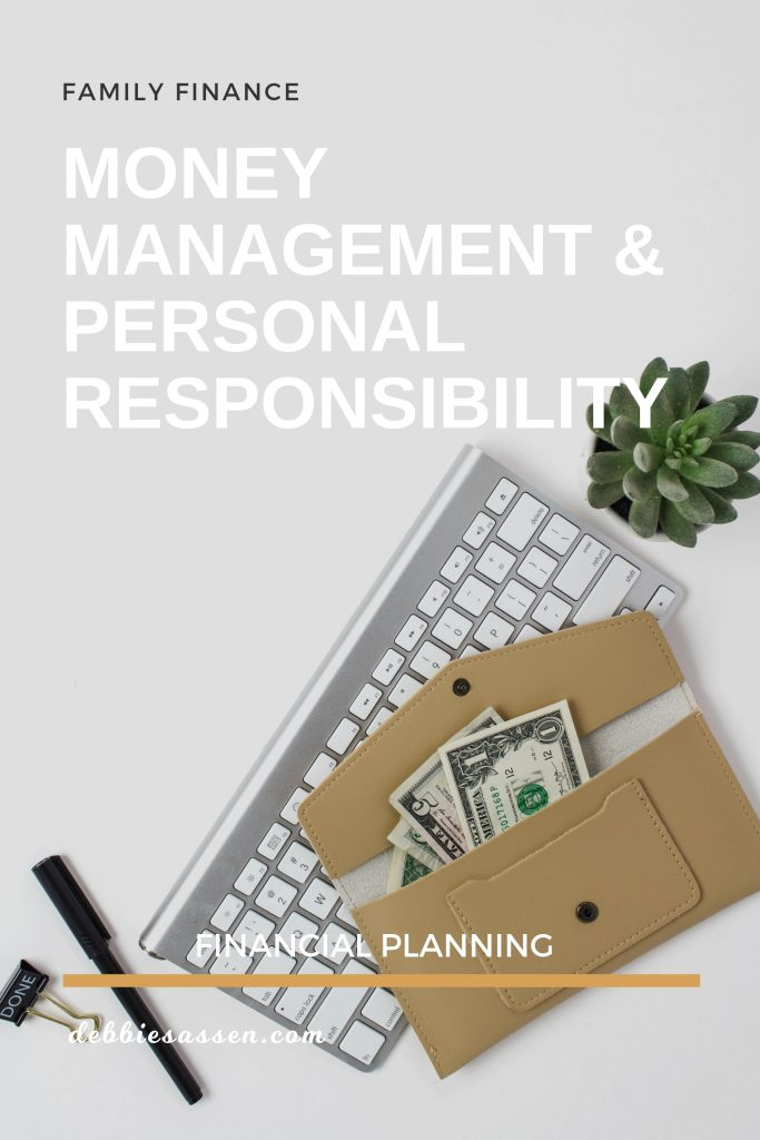 Money Management and Personal Responsibility Pin - Debbie Sassen