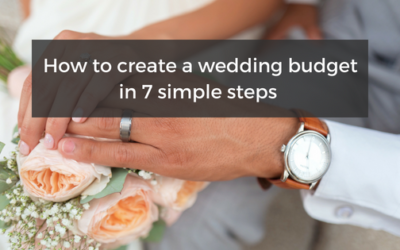 How to create a wedding budget in 7 simple steps