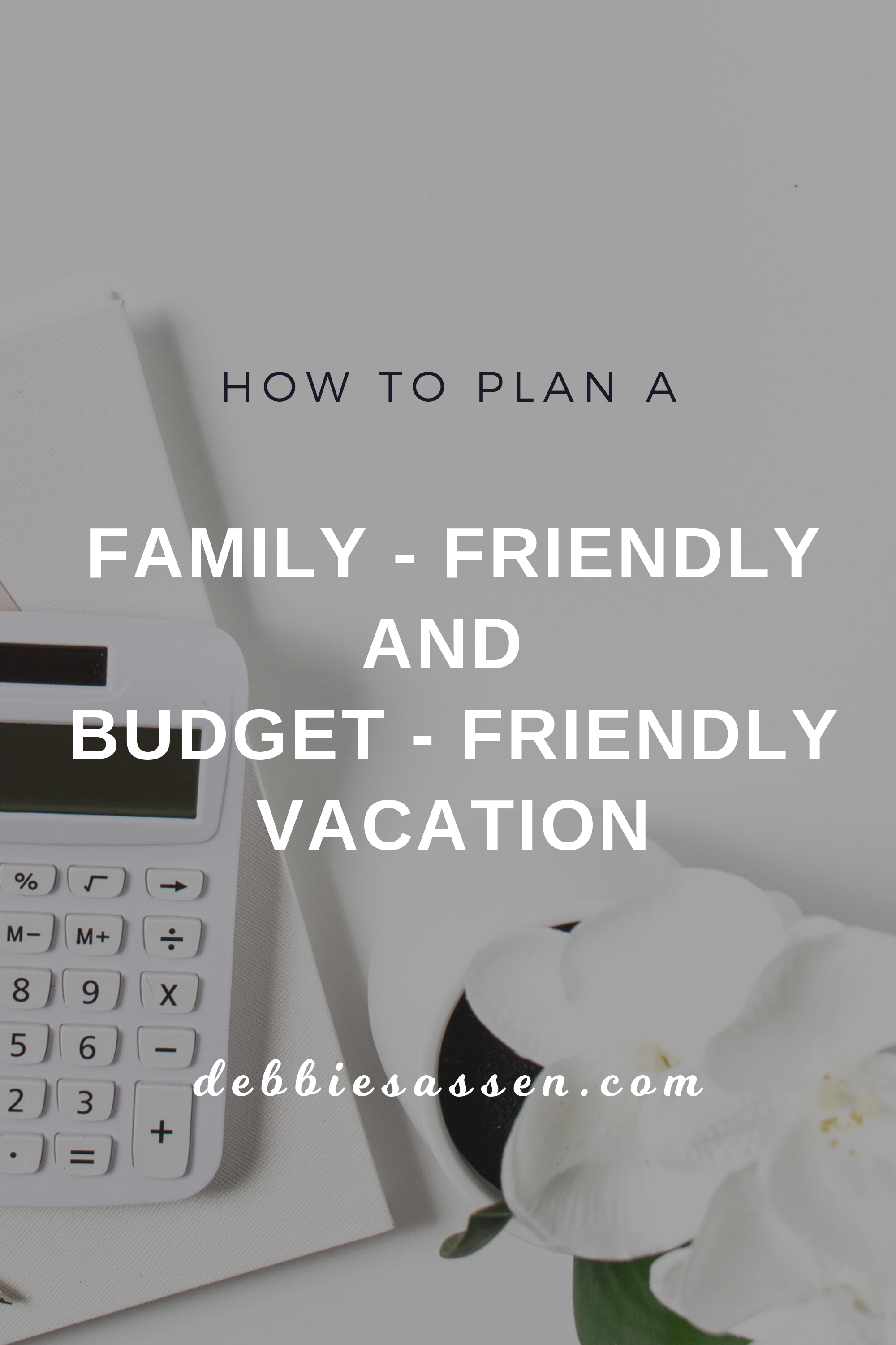 How to plan a Family Friendly and Budget Friendly Vacation Pin - Debbie Sassen