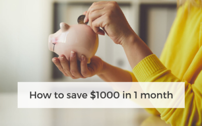 How to save $1000 in 1 month