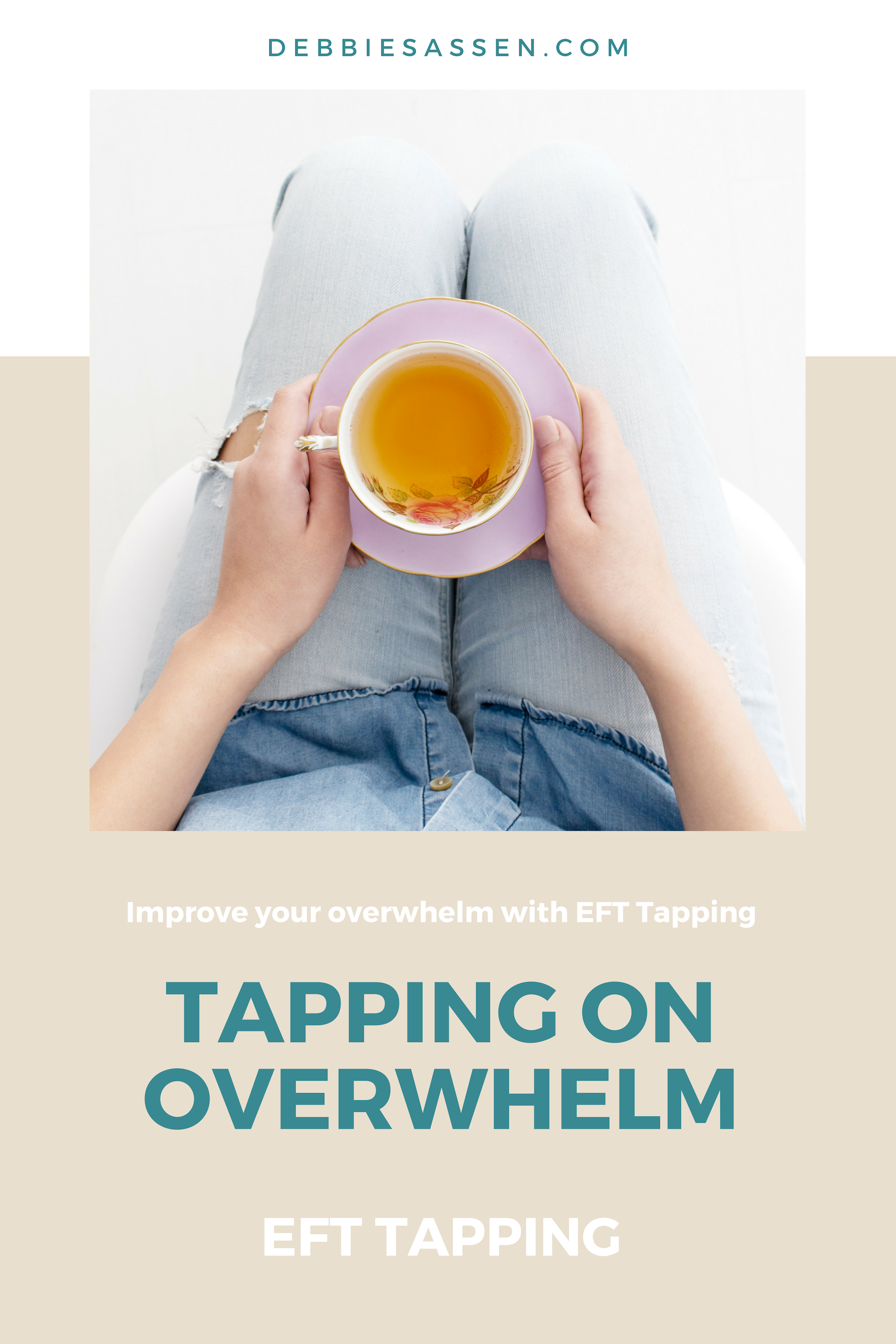 Tapping on Overwhelm Pin - Debbie Sassen